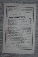 Doodsprentje 1864 Baarle Hertog En Nassau Pastoor De Kater - Religion &  Esoterik