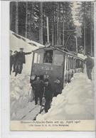 68 MÜNSTER . Schlucht-Bahn Le 25/4/1908 , Très Animé , Déneigement Du Train , édit : E Hodel , écrite En 09 , état Extra - Munster