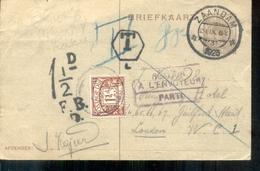 Zaandam Keijzer - Port Engeland - Uitslagen Voetbal 23.9.28 - Postal Stationery