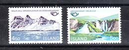 Islanda  -  1983. Montagne E Cascata. Mountains And Waterfall.. MNH Complete Set - Geografia