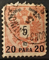 AUSTRIAN POST IN LEVANTE 1888 - Canceled - ANK 16 - 20p - Usados
