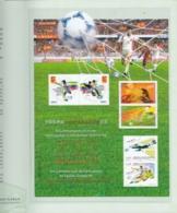 "CHINA 2002, ""Participation World Cup Football"", Special Sheet (China, Hongkong, Macao"", Original Folder - Blocks & Kleinbögen"