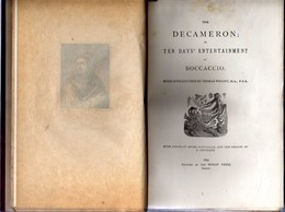 The DECAMERON Or TEN DAYS' ENTERTAIMENT Of BOCCACCIO – 1894 – Illustrated With 11 Designs Hors-text By STOTHARD – 532 Pa - 1850-1899
