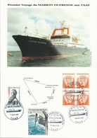Document Premier Voyage Du Marion Dufresne Aux TAAF - Cachets 1er Toucher Dans Les 3 Territoires - 11 Au 22/08/1995 - Navires & Brise-glace