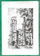 Arras (62) Ruines Du Mont St-Eloi Par J. Lefortier Peintre Franc-maçon Car Signe De Trois Points 2scans 1980 - Arras