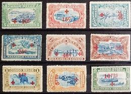 Opdruk Rode Kruis - Volledige Reeks - Perfecte Staat - Belgisch-Kongo