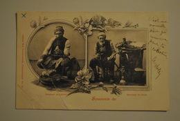 Turquie Souvenir De ... Constantinople ??? Marchand De Fruits Et Marchand De Leblebi Grosses Pliures - Turkije