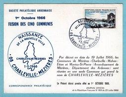 CP 08 - Charleville Mézières - Fusion Des Cinq Communes - Naissance D'une Nouvelle Ville - Charleville