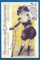 CPM Affiche Art Nouveau Femme à Bicyclette Mercato Pavia Monferrato 2015 - Illustratori & Fotografie