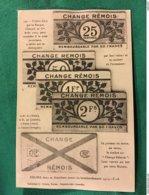 B009 – WW1. OCCUPATION ALLEMANDE DE REIMS. ILLUSTRATION DES BILLETS DE NECESSITE - Guerra 1914-18