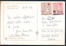 °°° 15125A - ALBANIA - THE POGRADECI LAKE - 1993 With Stamps °°° - Albania