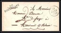 8567 LAC Doulevant Haute Marne 37x9 1830 Pour Montreuil Sur Blaise Marque Postale Lineaire France Lettre (cover) - Marcophilie (Lettres)