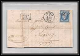 8697a Lac N°14 20C NAPOLEON TB Epinal Vosges Pc 1187 Pour Bussang France Lettre (cover) - Postmark Collection (Covers)
