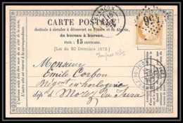 8736 LAC N 59 Ceres 15c GC 456 Besancon Doubs 1873 Pour Morez Jura France Precurseur Carte Postale (postcard) - Cartes Précurseurs