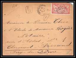9165 N°119 Merson 40c Trouville Calvados Clermont Ferrand 1904 France Lettre Recommande Cover - Marcophilie (Lettres)