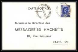 9399 Entete Messageries Hachette N°324 Exposition Paris 1937 Chateau Salin 1936 France Carte Postale Postcard - Postmark Collection (Covers)