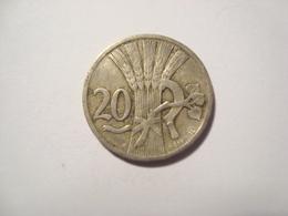 MONNAIE TCHECOSLOVAQUIE 20 HALERU 1922 - Tchécoslovaquie