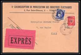 9531 Entete Mobilisation Des Industries Electriques Ceres Petain Toulouse Pau 1941 France Lettre Express Cover - Marcophilie (Lettres)
