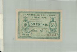 Billet De Banque Chambre De  Commerce  DE BAYONNE  1924 50 Centimes DEC 2019 Gerar - Chambre De Commerce