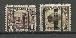 USA 1923 Michel 281 & 283 Pre-cancels Philadelphia & Birmingham - Precancels