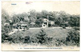 75020 PARIS - Square Du Père Lachaise Et Porte Des Osiaux - Postée En 1906 - édition Comptoir Parisien N° 231 - Paris (20)