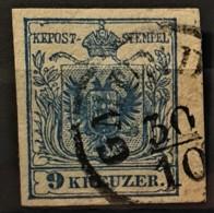AUSTRIA 1850/54 - GMÜND Cancel - ANK 5 - 9kr - 1850-1918 Imperium