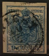 AUSTRIA 1850/54 - TRIEST Cancel - ANK 5 - 9kr - Usados