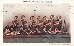 """""""Kia-Ora"""" Troupe Of Maori Entertainers In Cheltenham Postcard - Ethniques & Cultures"""