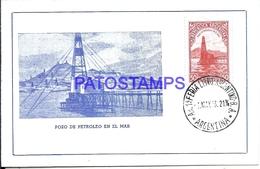 126983 ARGENTINA POZO PETROLERO EN EL MAR YEAR 1943 POSTAL POSTCARD - Argentina