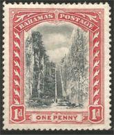 164 Bahamas 1901 Queen Staircase Escaliers Watermark 1 MH * Neuf CH (BAH-170) - Bahamas (...-1973)