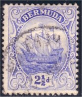 188 Bermuda 2 1/2p Blue Caravel Caravelle (BER-58) - Bermudes