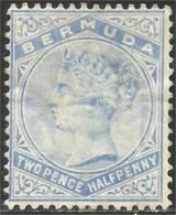 188 Bermuda Queen Victoria 2 1/2 Blue MH * Neuf CH (BER-87) - Bermudes