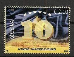 KOSOVO 2018, 10  YEARS INDEPENDENCE OF KOSOVO REPUBLIK,MNH - Kosovo