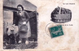 46 - Le Lot Illustré  - Recolte De La Truffe - Le Départ - France
