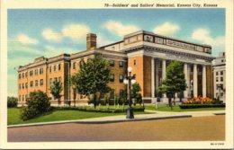 Kansas Kansas City Soldiers And Sailors Memorial Curteich - Kansas City – Kansas