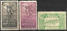 Brazil  1935  Sc#407 MH, #408 MNG, #420 MH  2016 Scott Value $4.55 - Brasile