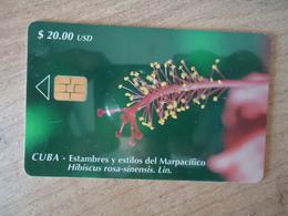 CUBA  USED CARDS   FLOWERS - Cuba