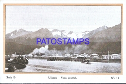 127031 ARGENTINA USHUAIA VISTA GENERAL  & CAP POLONIO SHIP POSTAL POSTCARD - Argentine