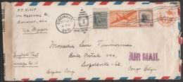 "USA - L. Avion EP 6c + 1$74 Flam. CINCINNATI /SEP 16/ OHIO/ 1942 Pour LEOPOLDVILLE - AIR MAIL ""via Clipper""- Bande Censu - Congo Belga"