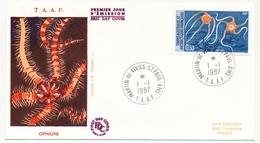 TAAF - Enveloppe FDC - 0,50 Ophiure - Martin De Vivies / St Paul Et Ams. - 1.1.1987 - FDC