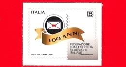 Nuovo - MNH - ITALIA - 2019 - 100 Anni Della Federazione Fra Le Società Filateliche Italiane – Logo - B - 6. 1946-.. Repubblica