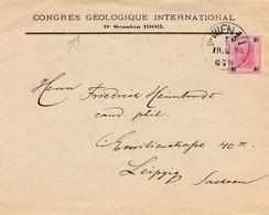 Bergbau: Brief Congres Geologieque Internat. Wien Nach Leipzig 1903 - Sonstige - Europa