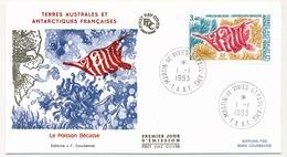 TAAF - Enveloppe FDC - 3,40 Le Poisson Bécasse - Martin De Vivies / St Paul Et Ams. - 1.1.1993 - FDC