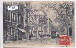 NICE- LE TRAMWAY DU BOULEVARD GAMBETTA - Transport Ferroviaire - Gare