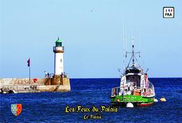 Set 6 Cartes Postales, Phares, Lighthouses Of Europe, France, Le Palais, Les Feux Du Palais - Vuurtorens