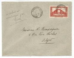 ALGERIE 90C SEUL LETTRE C. PERLE FONTAINE DU GENIE 12.5.1939 ALGER - Poststempel (Briefe)