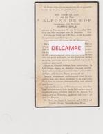 DOODSPRENTJE DE ROP ALFONS WEDUWNAAR BALS NIEUWKERKEN-WAAS 1855 - 1940  Bewerkt Tegen Kopieren - Images Religieuses