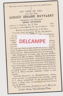 DOODSPRENTJE BUYTAERT AUGUST ECHTGENOOT STRYBOS VRASENE NIEUWKERKEN-WAAS 1867 - 1942  Bewerkt Tegen Kopieren - Images Religieuses