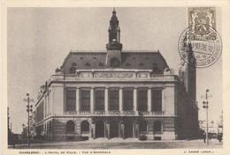 CHARLEROI /  HOTEL DE VILLE / CACHET PHILATELIE DE LA JEUNESSE 1936 - Charleroi