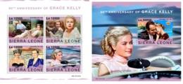 Sierra Leone 2019 Grace Kelly 90th Aniv Cinema MS+S/S SRL191107 - Célébrités